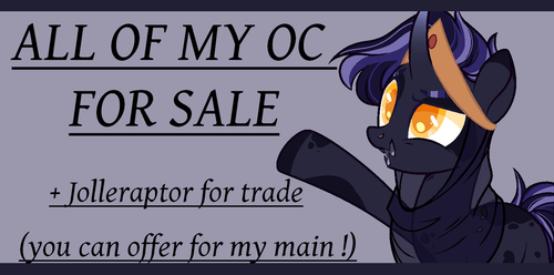 ALL OF MY OC SALE ! by Vhilinyar