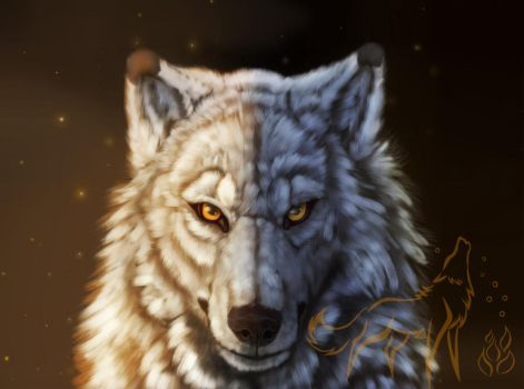 Tracks of the wolf + VIDEO by EmberWolfsArt