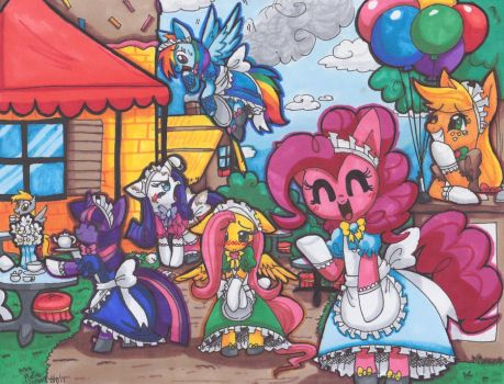 Pony Maid Cafe by MahoxyShoujo