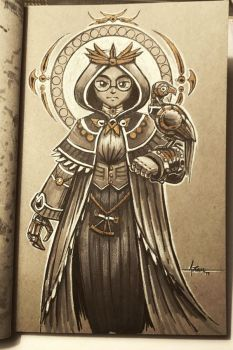 Steampunk Inktober - Day 12 by 47ness
