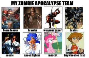 My Zombie Apocalypse Team by Algahiem3