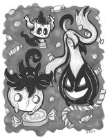 6. Pokemon Halloween - Inktober 2015 by crittercat