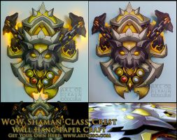 WoW Class Crest: Shaman by StrayaObscura