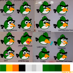 Josh's Facial Expressions with Color by Mario1998