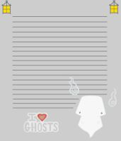I Love Ghost Stationary by SeraphimProphets