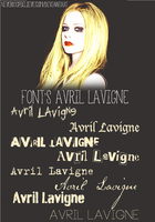 +Fonts Avril Lavigne by NeverStopBelieve