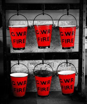 there were six red buckets ... by awjay