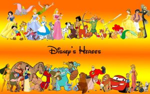 Disney's Characters Wallpaper by simsim2212