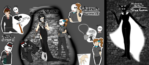 Creepypasta OCs- Mistress Perfect,Photo and Advert by AgentPawz