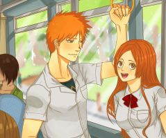 IchiHime - A normal day by Peatchoune