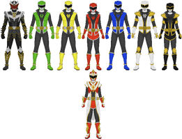 Requested: Youkai Sentai Hidenger by Taiko554