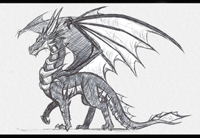 Dragon Sketch by DragonMaster137