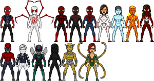 Ultimate Scarlet Spider Characters by FriendAlias