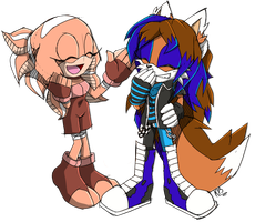 .:PC:. Starfiah and Zoey for ~StarBitChild~ by BlueBlurApple