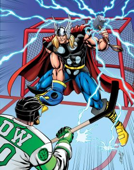 Thor Hockey poster RH by RossHughes