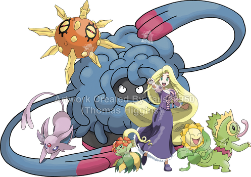 Rapunzel - Pokemon Team by Tails19950