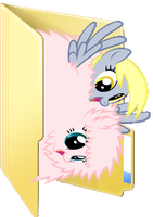 Fluffle Puff and Derpy Folder Icon by Liny-An