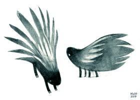 Porcupine Sketches by sketchinthoughts