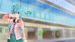 Ribbon Girl Miku at Shinjuku Station by xxRicket
