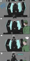 Comic - Vader's stuck! by EletricDaisy