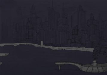 Night City Skyline (process) by leazin10