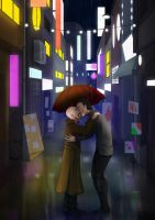 Comm.: Kiss in the rain by FreakyVicky