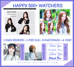 [ SHARE PACK ] HAPPY 500+ WATCHERS by Moon2k2