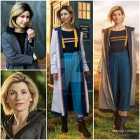 Cosplay vs character - 13th Doctor by ArwendeLuhtiene