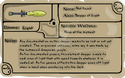 Weapon profile 01- Dagger of Light by DarkHeroDude