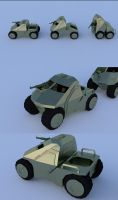 Military spec Folding Car by chaitanyak