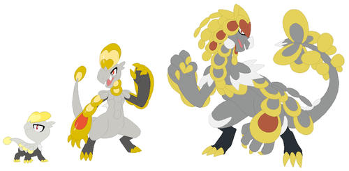Jangmo-o, Hakamo-o and Kommo-o Base by SelenaEde