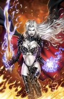 CC Lady Death EE#1, pencils: J. Metcalf by ulamosart