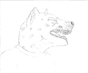 myself as a Hyena by CDSZombieslaughter