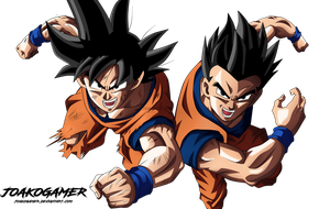 Goku and Gohan (Father and Son) by JoakoGamer