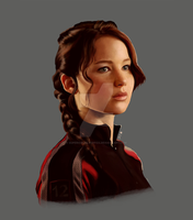 Katniss portrait by Superior-Silverfox