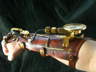 Steampunk Power Bracer by Skinz-N-Hydez