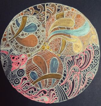 Round Zentangle Art by DoodleWithJoy