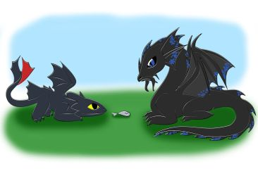 Toothless-Temeraire-Fish by hatirrisworldproject