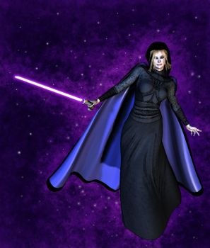 Sith w Purple Saber by RavagerOfWorlds