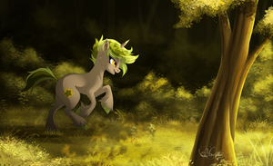 Running in the forest by hecatehell