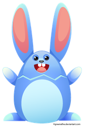 Easter Egg Bunny by greenafire
