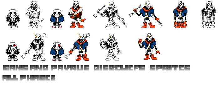 Undertale Disbelief Papyrus Phase 3: Papyrus Phase 3 Gif Movement By