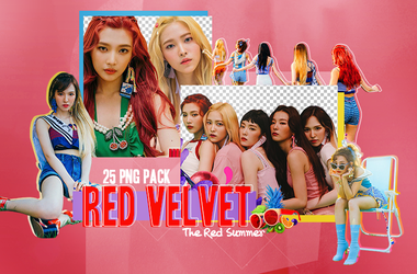 The Red Summer (Red Velvet) PNG Pack by ShoshiiAlex