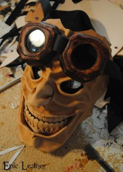 To Valhalla Leather Mask WIP 2 by Epic-Leather