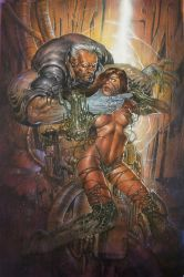 Witchblade original cover issue#71 (painted) by keucha