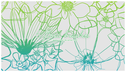 6 Flora Brushes by acidmii-stock