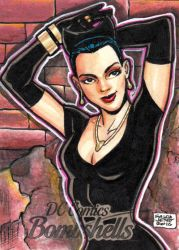 DC Bombshells - CATWOMAN sketchcard by JASONS21
