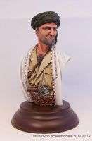 Basmachi commander bust, Middle Asia 1916-1933 by Michael-XIII