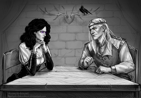 Yennefer and Geralt by NastyaSkaya