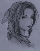 Aerith Sketch by VioletRaine